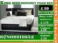 Brand New Double Single King Size Small Double Base Memory Foam Base Frame Bedding