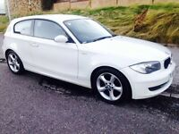 2008 BMW 1 SERIES 2.0 120d WHITE MSports Specs 5dr 177 bhp Long Mot Px/Welcome