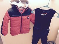 Excellent condition size 4t red winter jacket and snow pants