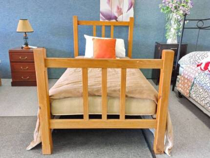 DELIVERY TODAY STRONG Single Wooden bed with mattress QUICK SALE Perth Region Preview