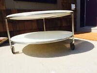 IKEA round coffee table (2 tier) with castors