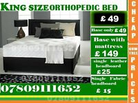 Single, Double and King Size Super Orthopedic Bed Frame with Mattress Range