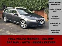 2010 Volvo V70 D5 SE Lux (205 PS), AUTOMATIC, GREY, DIESEL, SAT NAV, ESTATE