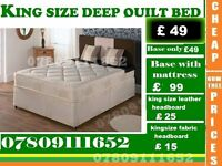 New King Size Bed base with Mattress / Double / single also available