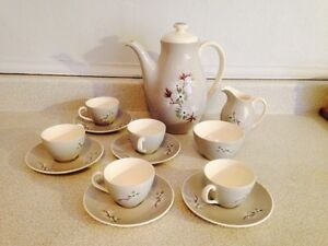 Vintage Royal Doulton Frost Pine Tea Set (1956-64)