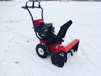 "Noma Snowblower 8HP 24"" fully serviced , ready to work !"