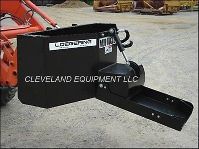 New Loegering Mud Bucket Attachment Skid Steer Loader Concrete Dispensing Hopper