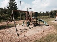 Kids wooden swingset for sale