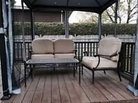 Elegant 3-piece conversational iron patio set for sale