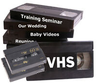 VHS & 8mm tapes to DVDs