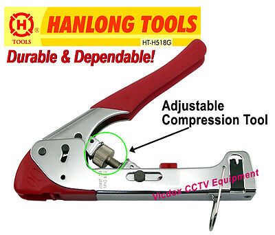 Professional 3-in-1 Adjustable Compression CRIMPING TOOL for RG6 RG59/ BNC F RCA