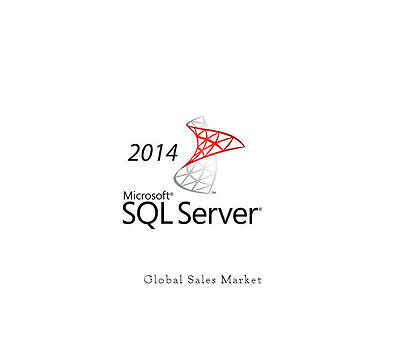Microsoft SQL Server 2014 Standard Edition Server R2 w/20 CAL's