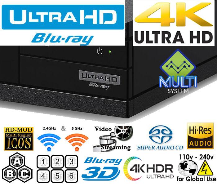 SONY X800 4K UHD ALL REGION CODE FREE BLU-RAY DVD PLAYER ALL
