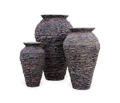 Aquascape®  Stacked Slate Urns - Fiberglass-Resin Fountain (Fiberglass Resin Urn)