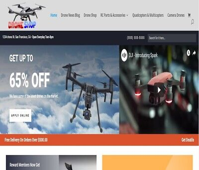Drone Shop Wordpress Website Woocommerceebayamazonaliexpress Ready