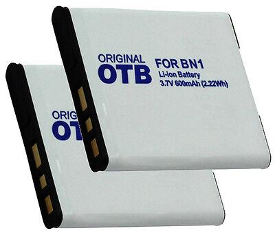 2 x Akku für Sony Cyber-shot DSC-WX100, DSC-WX150, DSC-WX200, DSC-WX220 - NP-BN1 online kaufen