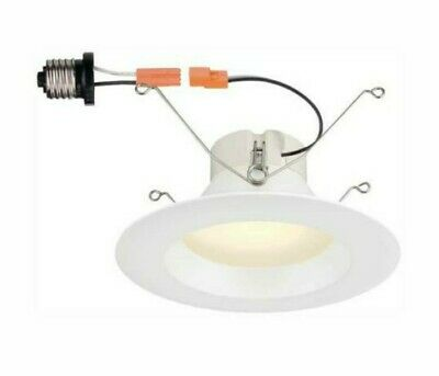 Commercial Electric 5 In. And 6 In. White Integrated Led High Lumen Recessed Can
