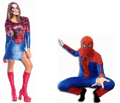 Spiderman Kostüme Preis (SPIDERMAN SPIDERGIRL COSPLAY KOSTÜM SONDERPREIS peter parker spinne adult )