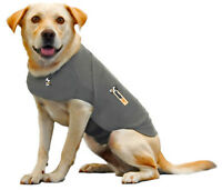 THUNDERSHIRT - LARGE Dog anxiety treatment wrap, heather grey.