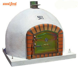 brick outdoor wood fired Pizza oven 100cm x 100cm  Deluxe model chimney mount