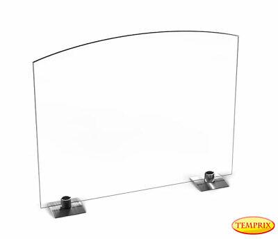 Temprix Funkenschutz aus Glas | Funkenflug Ofenschutz | Funkenschutzgitter