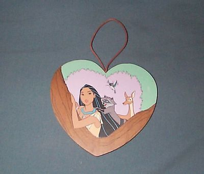 Disney Pocahontas Heart Ornament with Meeko, Flit and Deer, Kurt S Adler