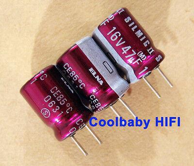 200pcs Elna Silmic Ii 47uf 16v 811.5mm 85c Audio Electrolyticcapacitors