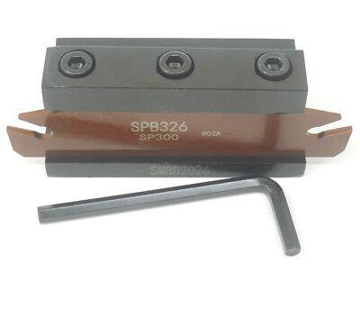 3 Spb326 Spb26-3mm Grooving Parting Blade Smbb2026 Cut Off Block Tool Holder