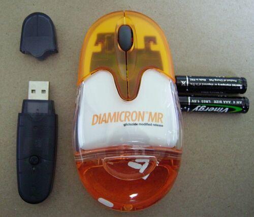 Cordless wireless Diamicron mouse - drug rep (BRAND NEW)