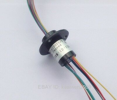 300rpm Capsule Compact Tiny Slip Ring 12 Circuits 12.5mm 2a 240v Test Equipment