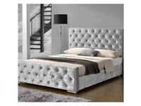 🔴 Lowest Price Offer 🔴 Designer Series Beds in Velvet Headboard with Studs 🔴
