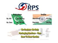 Cargo Parcel Document to Pakistan India Cheap Door to Door Pakistan £35/10kg & India from £30/10kg