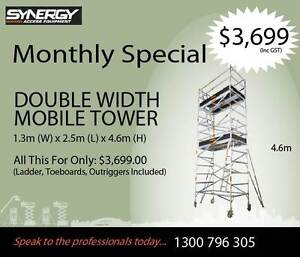 Double Width Aluminium Mobile Scaffold - 4.6m high- two levels Revesby Bankstown Area Preview