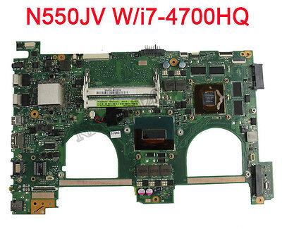 For Asus N550JV Motherboard w/Intel i7-4700HQ 2.4Ghz CPU 60NB00K0-MB9000 GT750M