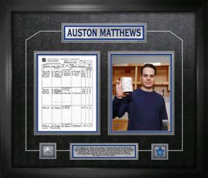 Auston Matthews First Game Plaque Unsigned Mancave - $180 value