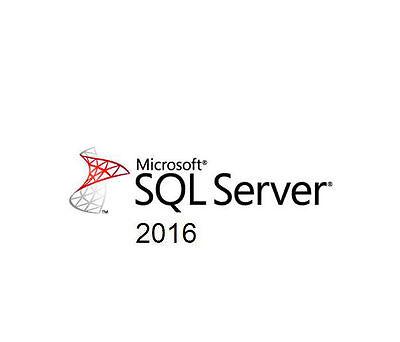 Microsoft Sql Server 2016 Standard 16 Core