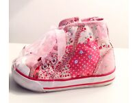 High Top Blinged Converse-style shoes - infant size 8