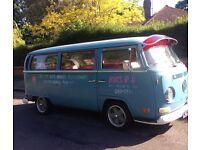 Vw t2 early bay patina tintop campervan 1970