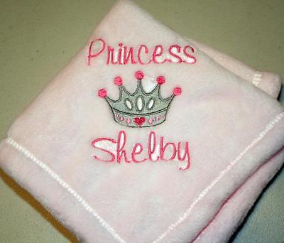 Embroidered Monogrammed Baby Blanket Tahoe Fleece Girl or -