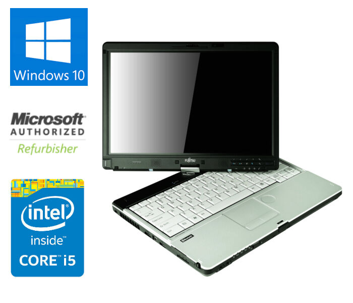 FUJITSU LIFEBOOK T901 TABLET LAPTOP 4GB RAM 500GB HDD i5 2.5 GHz WIN 10
