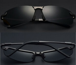 New-Mens-Black-Polarized-Lens-Aviator-Outdoor-Sports-Eyewear-Driving-Sunglasses