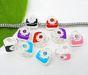 Wholesale Bulk Lots Charms Glass Beads Pendants Stoppers For CHARM BRACELETS