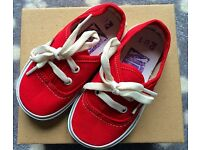 Toddler red Vans