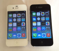 Two Apple iPhone 4 8GB (Unlocked) Exellent Condition, No Scratch