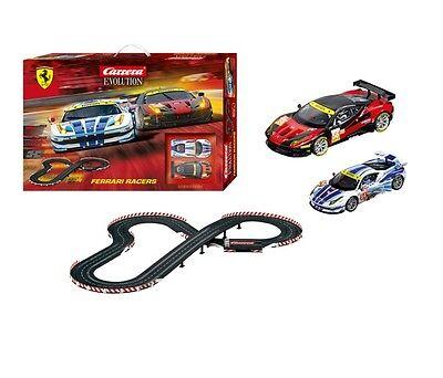 Carrera Evolution Ferrari Racers 1/32 Slot Car Set 25222 CRA25222