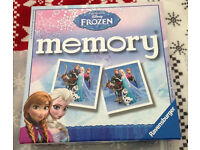 Childrens toys - Disney frozen memory game - like new only playes once