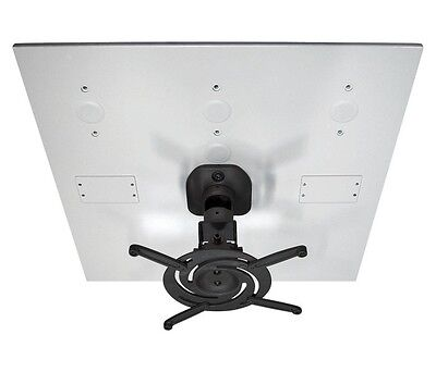 Universal Drop Ceiling Projector Mount Black for most projectors up to 30lbs