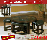 3219, coffee tables, site end tables, glasses top coffee tables