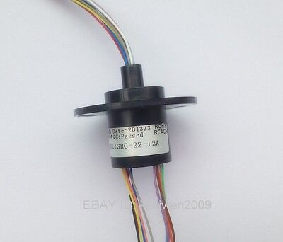 22mm 122a 12 Wires 2 Amps 12 Conductors Capsule Compact Slip Ring 240vac 300rpm