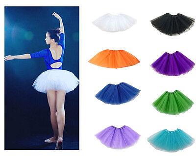 Damen Tütü Tutu Ballettrock Tüllrock Petticoat Kleid Ballettkleid Ballett DE ()